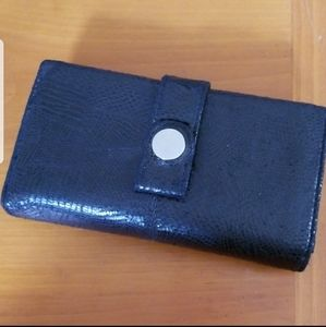 Black Kenneth Cole Reaction Folding Wallet Used